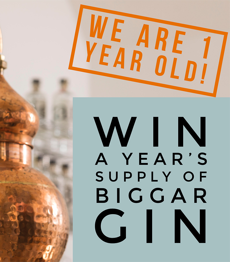 Win a years supply of Biggar Gin - Click for Details